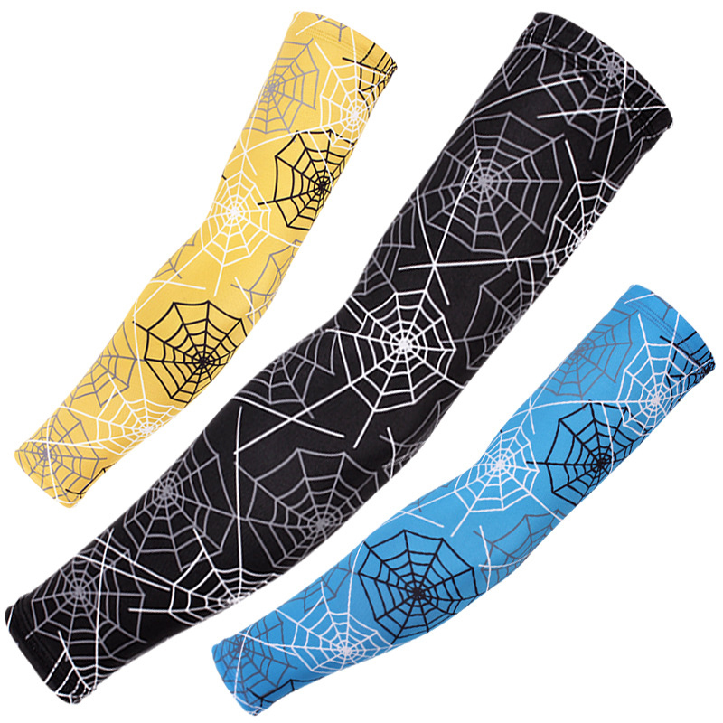 Outdoor Cycling Tattoo Printed Arm Sleeves Sun Protection Bike Basketball Compression Arm Warmers Ridding Cuff Sleeves