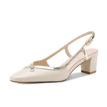 Mixed Colors Single Women Sandals Genuine Leather Thin Heels Pumps 2020 Spring Summer Party Working Shoes Woman
