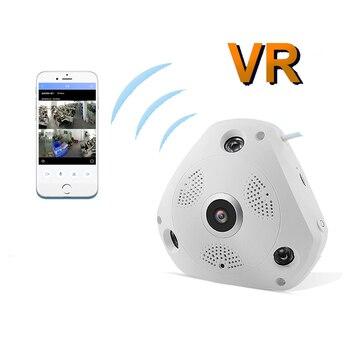 360 Degree Panorama VR Camera HD 1536P 3.0MP Wireless WIFI IP CAM 3D stereoscopic No dead angle monitor