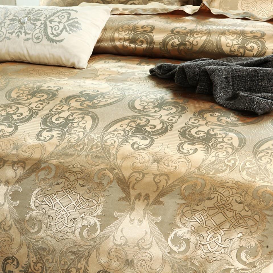 Wedding Bedding European-Style Jacquard Quilt Cover 3pcs Set American
