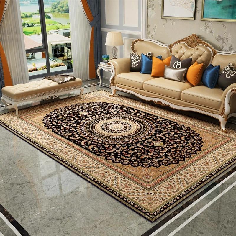 Turkish Persian Carpets For Living Room Europe Retro Bedroom Carpet Sofa Coffee Table Area Rug Study Room Floor Mat Home Decor Carpet Aliexpress