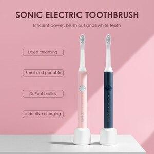 Image 3 - Xiaomi SOOCAS SO WHITE EX3 brosse à dents sonique électrique Rechargeable USB brosse à dents Rechargeable nettoyage en profondeur étanche X3