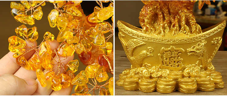 Extra large dorato naturale citrino fortunato albero dei soldi cash cow affari mestiere nuova casa regalo lingotto albero di scultura di decorazione