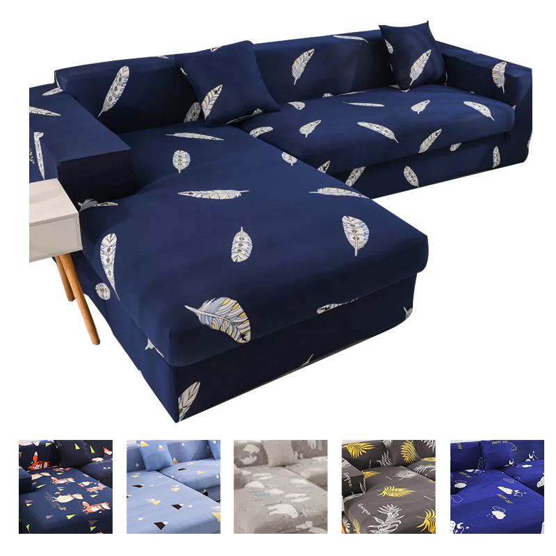 Modern L Shape Sofa Covers for Living Room Sectional Universal Sofa Cover Elastic Adjustable Cover for