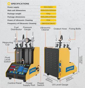 Image 3 - AUTOOL CT150 wtryskiwacz paliwa Tester Cleaner ultradźwiękowy dysza paliwowa benzyna Tester czyszczenie detektor 4 cylindry 110V 220V