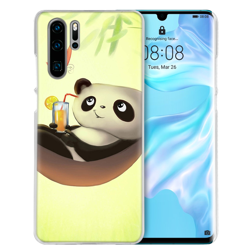 Image 2 - Case Cover For Huawei Honor P20 Mate 20 10 P10 P9 P8 8X 9 Lite P Smart + Plus 2017 2019 Nova 3i Clear Cute Animal Panda Fundas-in Half-wrapped Cases from Cellphones & Telecommunications