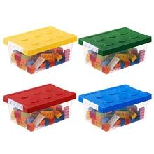 Kids Colorful Building Block Storage Box Stackable Building Block Storage Box Stacking Toys For Children Plastic Container Case