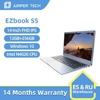2021 Jumper EZbook S5 12GB 256GB Premium Notebook 14 Inch 1920*1080 IPS Screen Intel Celeron Ultra Slim Laptop With Windows 10 1