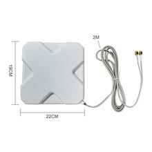 3G 4G LTE Ăng Ten SMA Đực Cáp 2 M 35dBi 2 * Đầu Nối SMA Cái Cho 4G Modem router + Tặng Bộ Chuyển Đổi SMA Nữ Để CRC9 Đầu Nối Nam