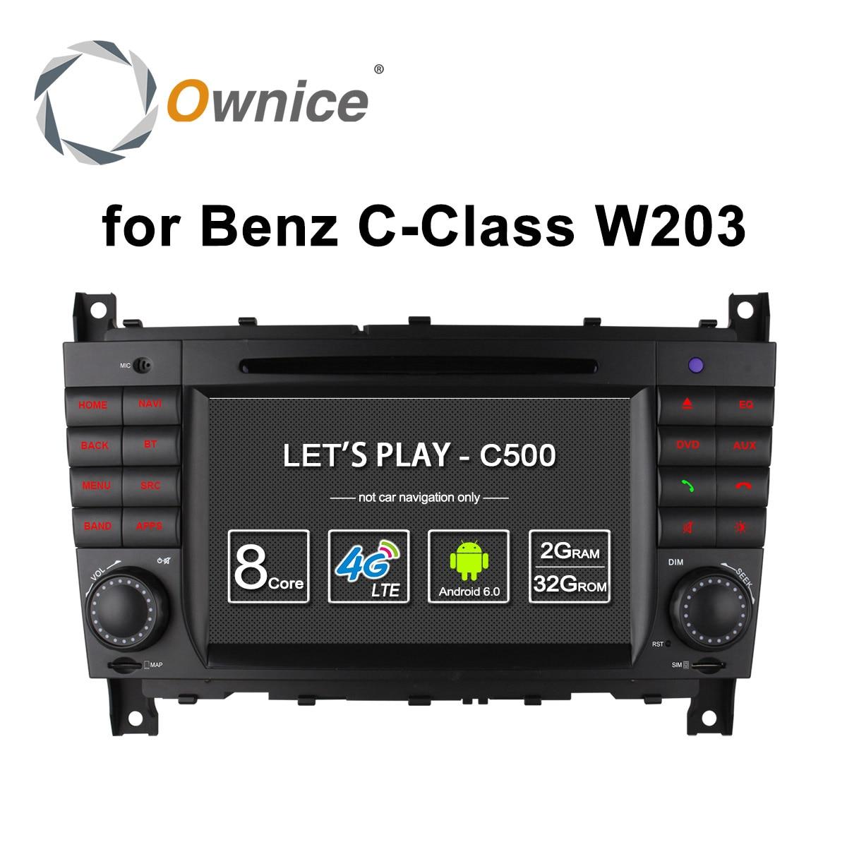 4G SIM LTE Android 6.0 Octa 8 Core Car DVD for Mercedes C Class W203 2004 - 2007 c200 C230 C240 C320 C350 CLK W209 2005 GPS