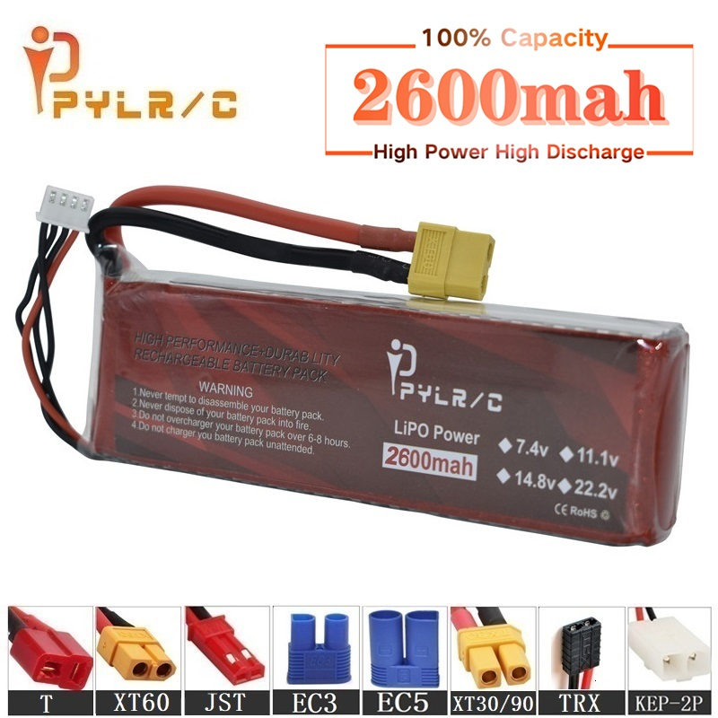 High Rate 14.8v 2600mAh Lipo Battery For RC Helicopter Parts 4s Lithium battery 14.8v 50C RC Cars Airplanes Drone Battery T/XT60(China)