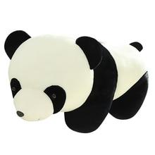 цена на 1pc Huggable Kawaii Stuffed Panda Doll Plush Animal Toy Soft Panda Lifelike Plush Toys Baby Kids Playmate Children Birthday Gift
