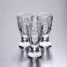 6 sztuk kreatywny grawerowane kieliszki bezołowiowe lampka do wina Mini szklane kubki do likieru Tequila Home Bar Party Drinkware 40ml prezenty