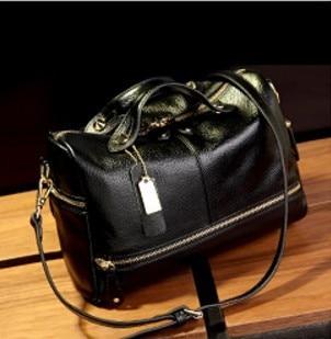 100% Real Genuine Cow Leather Women Handbags Fashion Luxury Ladies Messenger Bag High Quality Girls Tote Designer Shoulder Bags