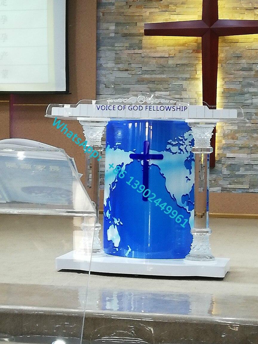 Clear Acrylic Church Pulpit Acrylic Glass Pulpit Podium Acrylic Crystal Podium