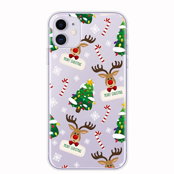 Christmas New Year gifts elk snow phone Case For iphon 11 PRO XR 6s 7 Plus 5s X XS MAX TPU Silicone Case for huawei P30 P20 Lite