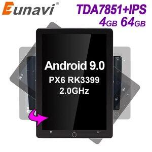 Eunavi 2 din Android 9.0 car radio multimedia player universal stereo GPS navigation TDA7851 IPS Electric rotation screen 4G 64G(China)