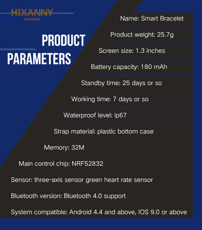HOT B57 Smart Horloge Bloeddruk Fitness Tracker Hartslag Tracker IP67 Waterdichte Bluetooth Smart Armband Sport Horloge