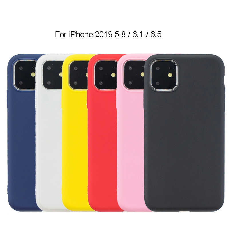 Goma TPU funda de silicona para iPhone 11 5,8, 6,1, 6,5, 2019 Color caramelo suave de TPU cubierta Coque iPhone XI XIR AXIS MAX 2019