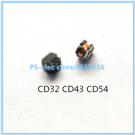 50pcs/lot SMD Power Inductor CD32 CD43 CD54 CD75 10uH 22uH 33uH 47uH 100uH 470uH 100 220 330 470 101 471 5mm 5.2x4.5mm image