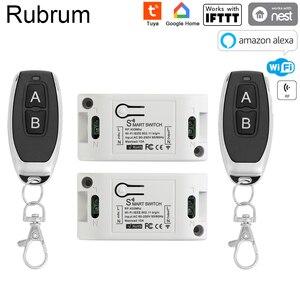 Image 1 - Rubrum RF 433 110V 220V מקלט חכם בית Wifi אלחוטי שלט רחוק חכם מתג חכם חיים/Tuya APP עובד עם Alexa בית