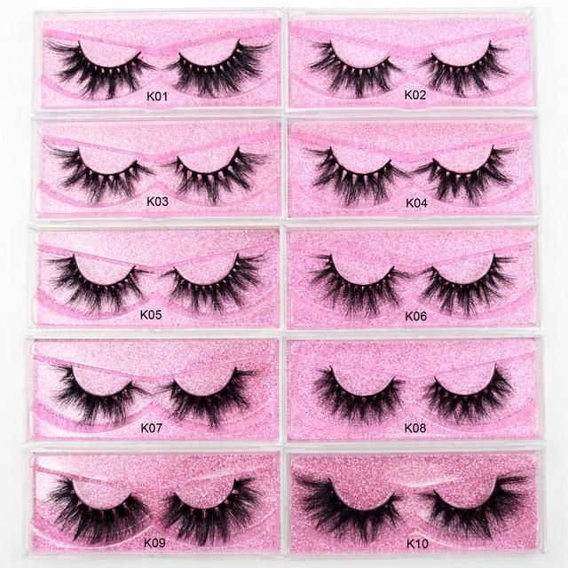 Visofree Mink Eyelashes Natural False Eyelashes Fake Eye Lashes Long Makeup 3D Mink Lashes Extension Eyelash Makeup for Beauty 3