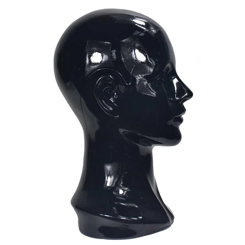 بولي كلوريد الفينيل الأسود أنثى المعرضة رئيس لقبعة الباروكات عرض عارضة أزياء رئيس الوقوف دون رئيس الشعر عارضة أزياء نموذج للعرض