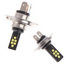 1/2 pces h4 h7 carro led farol kit lâmpadas alta baixa feixe 6000k branco kit conduziu a iluminação do carro ip67 à prova dip67 água luzes de nevoeiro led lâmpada