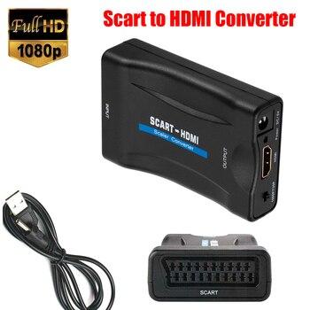 1080P SCART HDMI совместимый преобразователь видео аудио с USB кабелем для HDTV Sky Box DVD ТВ сигнала высококлассный преобразователь|Кабели VGA|   | АлиЭкспресс