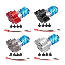 370 Brushed Motor with Alloy Heat Sink Gear Box Set for WPL Henglong C14 C24 B14 B24 B16 B36 4x4 6x6 Upgraded Parts