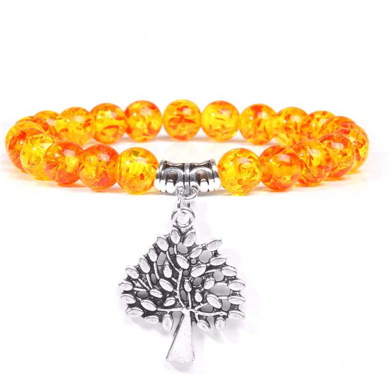 Wanita Gelang Lotus Pesona Gelang dengan Damar Manik-manik Gelang untuk Pria Gelang Wanita Yoga Doa Gelang Perhiasan Buddha Hadiah