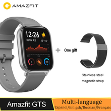 النسخة العالمية الجديدة Amazfit GTS ساعة ذكية 5ATM السباحة مقاوم للماء ساعة ذكية 14 أيام بطارية تحكم بالموسيقى