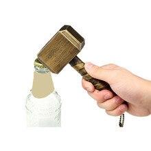 Avengers 3 Marvel Thors Hammer Bottle Opener Mjolnir Keychain Toys Silver Metal Thor Open Keyring Adults
