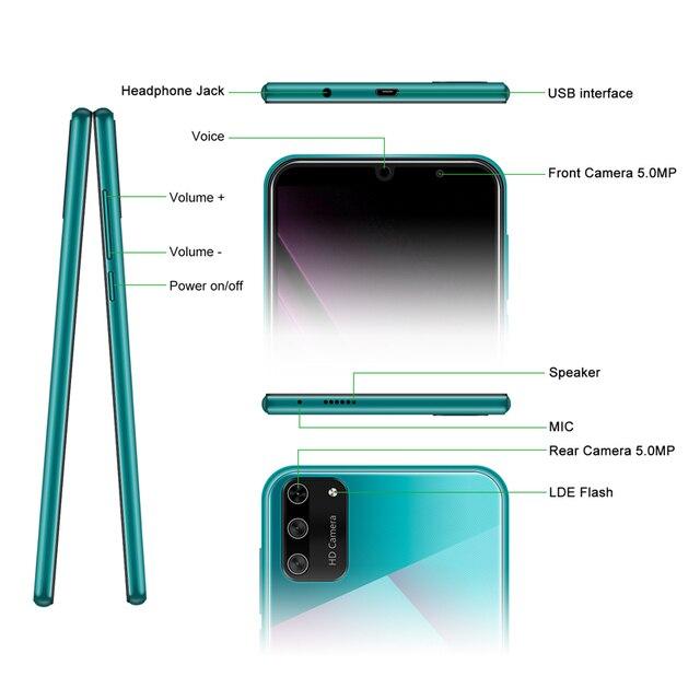 Android 9.0 5.5″ 18:9 Full Screen Dual SIM Mobile Phone 1GB 8GB Quad Core 5MP GPS WIFI Smartphone