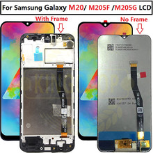 """6.3 """"dla Samsung Galaxy M20 2019 SM M205 M205F M205G/DS LCD z ramką wyświetlacz dotykowy Digitizer zgromadzenie wymienić M20 lcd"""