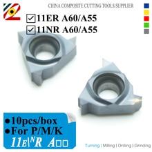 EDGEV 11ER 11NR 11IR A60 A55 CNC Lathe Cutting Tools Threading Carbide Inserts Internal Thread Turning Tools Tungsten Blade