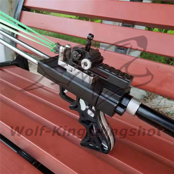 Wolf King Powerful catapult Hunting Slingshot Rifle Double Safety Device Stainless Steel Sight For Shooting Outdoor WK01 5