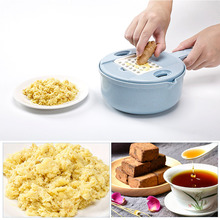Mandoline Slicer Spiralizer Vegetable Cutter Chopper Dicer Shredder Egg Separator Grinder Grater Set with Strainer Container