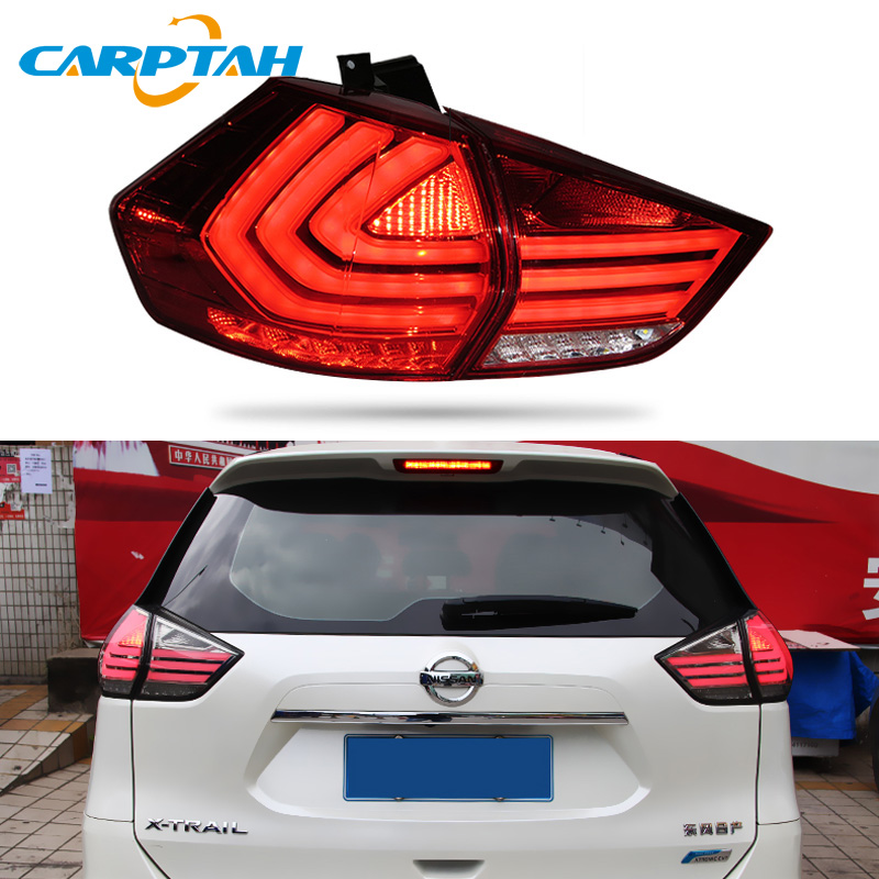 Car Styling Taillight Tail Lights For Nissan X-trail T32 2014 - 2019  Rear Lamp DRL + Turn Signal + Reverse Lamp + Brake LED