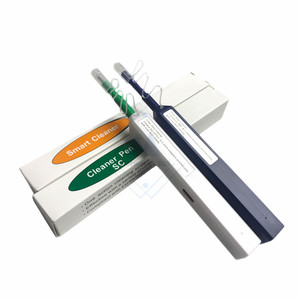 Image 3 - 2PCS/lot LC/SC/FC/ST One Click Cleaner tool 1.25mm OR Fiber Optic Cleaning Pen 2.5mm Universal Connector