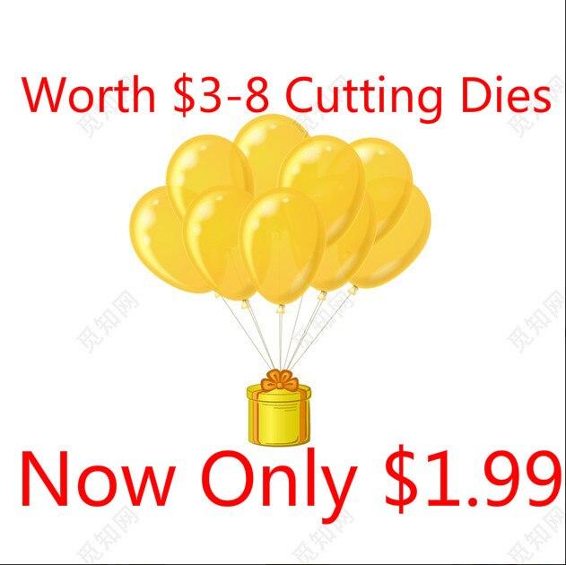 Naifumodo Worth $3-$8 Heart Tree Cloud Flower Cutting Dies Diecuts Metal Stencil Embossing Lucky Bag