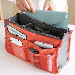 Multi Kleuren Bag In Bag Grote Capaciteit Make Handtas Organizer Insert Handtas Multifunctionele Vrouwen Cosmetische Reistassen