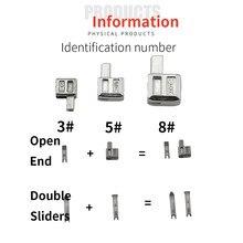 NO.3 5 8 10 metall schneider doppel-schieber geöffnet-ende zipper stopper zubehör für nähen 8-10 stücke