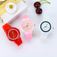 Cute Jelly Girl Watches for kids Silicone Strap Children