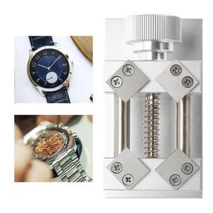Image 2 - Professionele Horloge Bezel Opener Removal Tools Werkbank Case Opener Tool Horloge Onderdelen Repair Tool Voor Horlogemaker Rood/Zilver