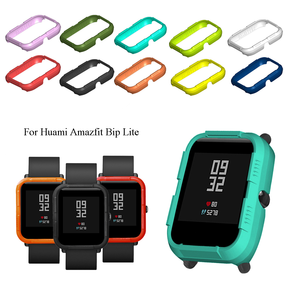 Colorful 1PC Hard PC Shell Cover Protective Shell Frame Bumper Protector For Huami <font><b>Amazfit</b></font> Bip <font><b>Lite</b></font> Smart Watch Accessories image
