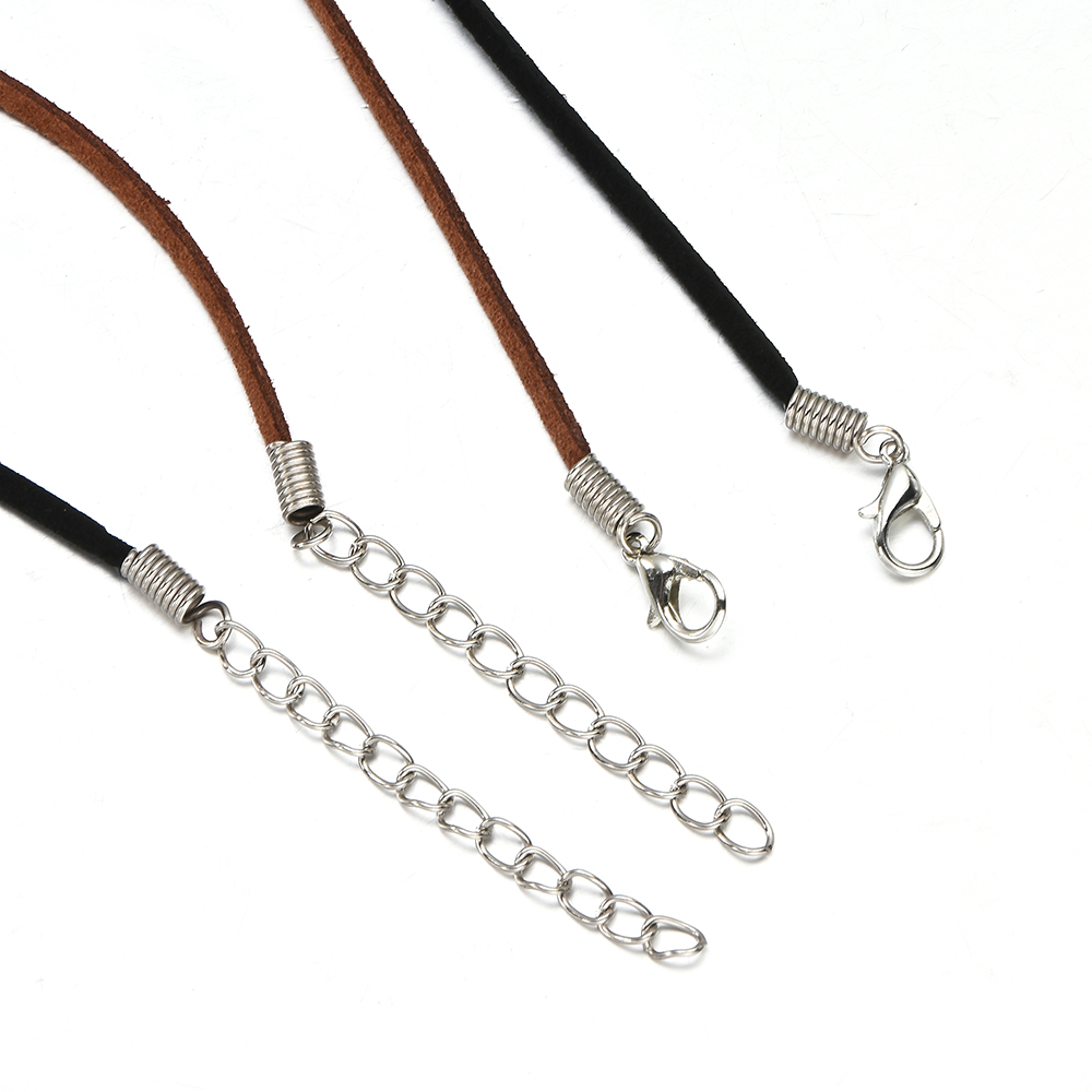 10pcs/Set Black Brown Suede Leather String Necklace Cord Jewelry Making DIY Collar Chain Jewelry 5