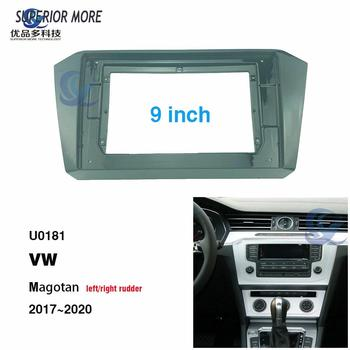 2 din 9 inch car radio Fascias for VW Magotan 2017 Dashboard Frame Installation dvd gps mp5 android Multimedia player image