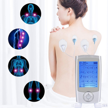 Body Massage Electric EMS Muscle Stimulator Electronic Pulse Physiotherapy Massager Tens Machine 16 Mode Dual Output Health Care dual output 2 in 8 tens unit body digital slimming body therapy massager pulse massage electronic muscle stimulator health care