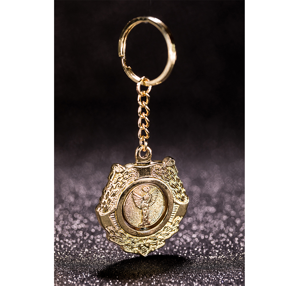 Good Omens Aziraphale Chain Costume Prop Necklace Gold Keychain TV Accessories